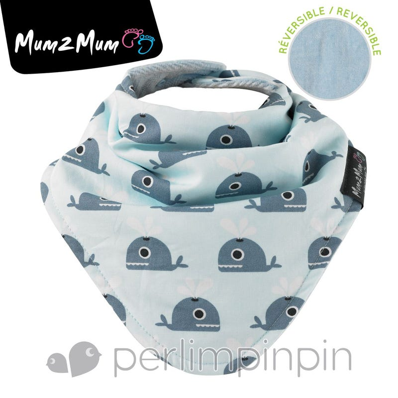 Fashion Bandana  Reversible Whale