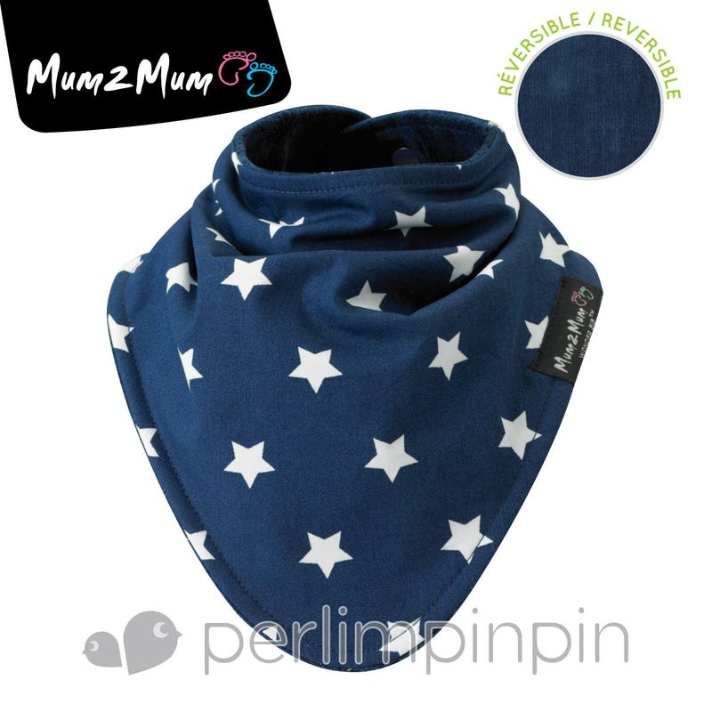 Fashion Bandana  Reversible Stars - Navy
