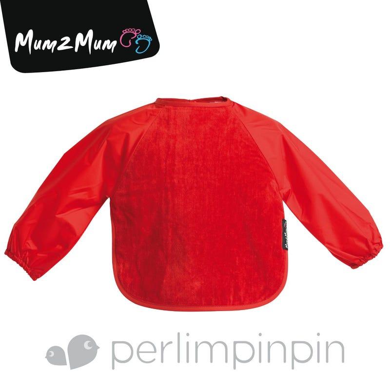 Wonder  Bib With Sleeve 6-18month- Red