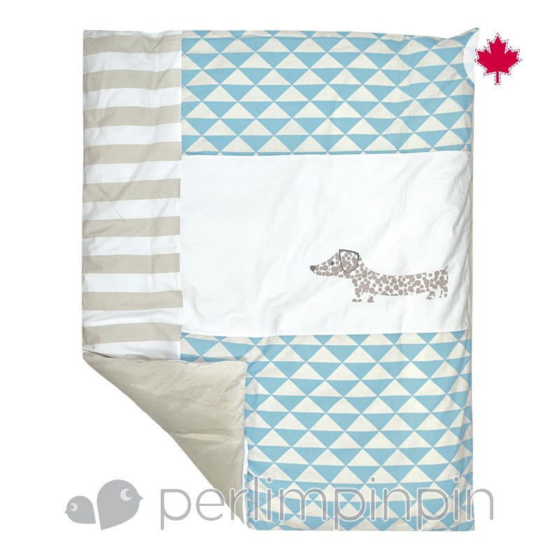 Duvet Cover - Blue Dog