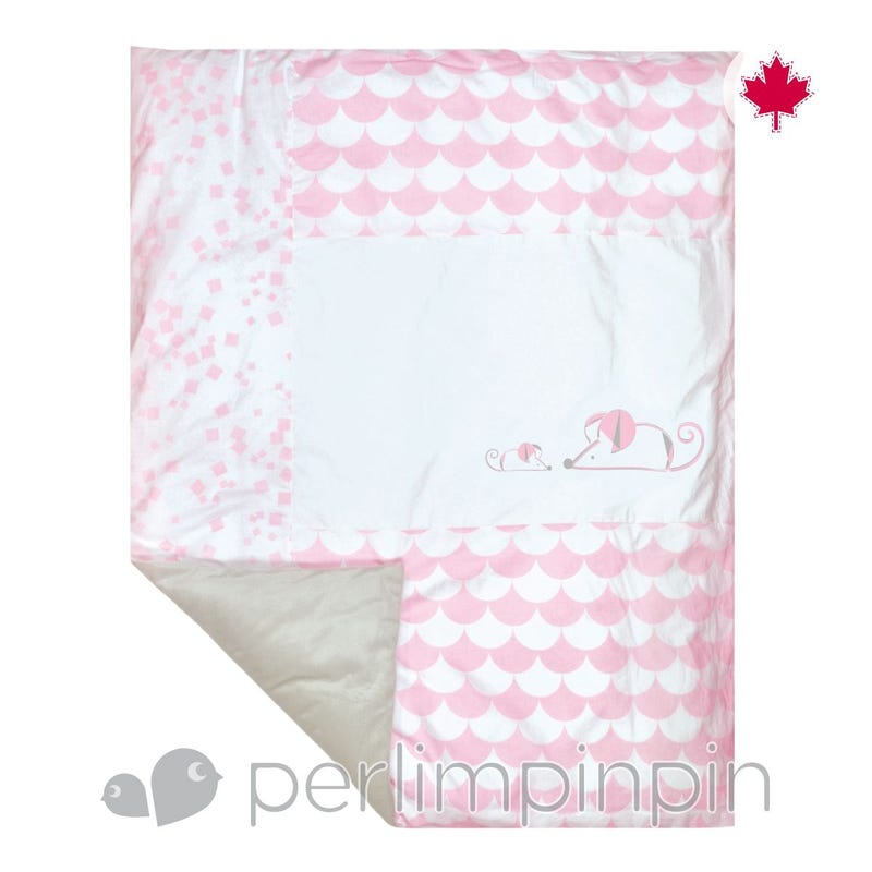 Duvet Cover - Pink Mouse