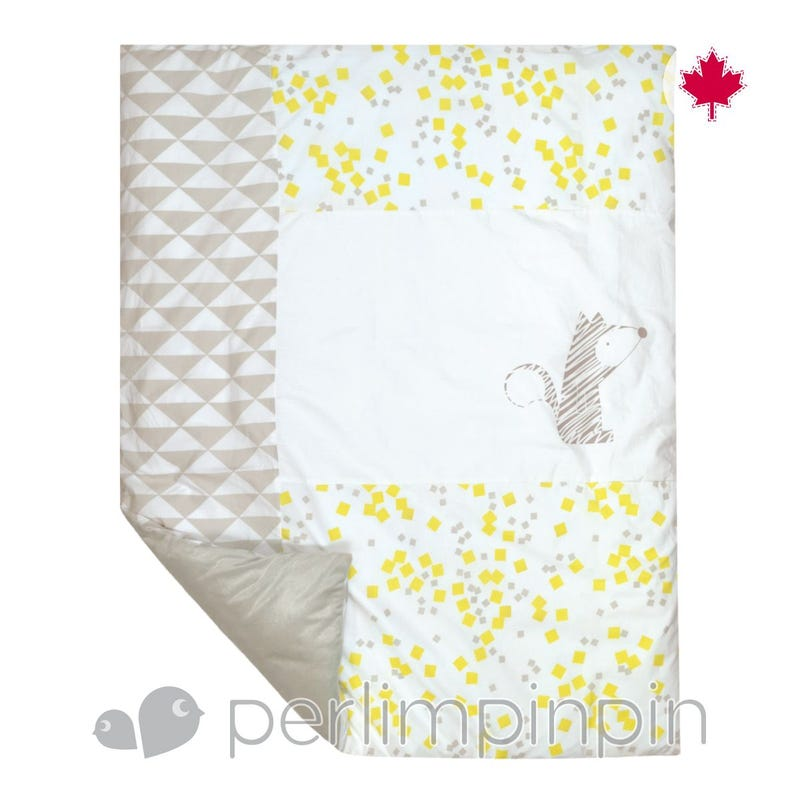 Duvet Cover - Yellow Square