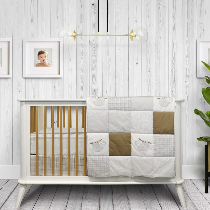 3-Piece Crib Bedding Set - Alix