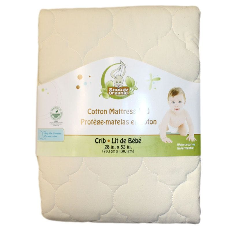 Mattress Pad Organic Cotton - White