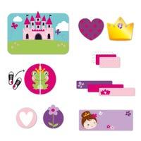 Étiquettes Personnalisées avec Nom - Princesse
