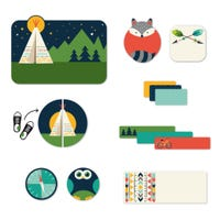 Peel And Stick Name Labels - Camp