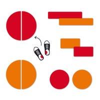 Étiquettes Personnalisées Mini - Rouge