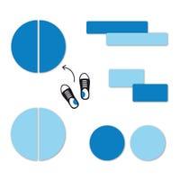 Étiquettes Personnalisées Mini - Bleu