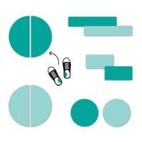 Étiquettes Personnalisées Mini - Turquoise
