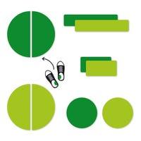 Étiquettes Personnalisées Mini - Vert