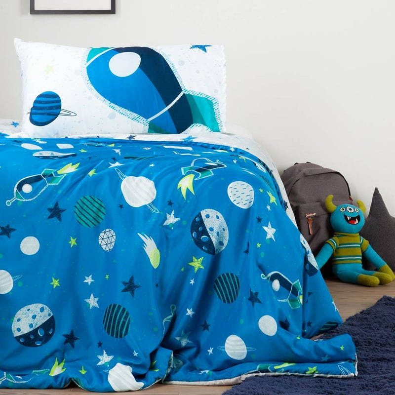 Reversible Comforter And Pillowcase - Rocket