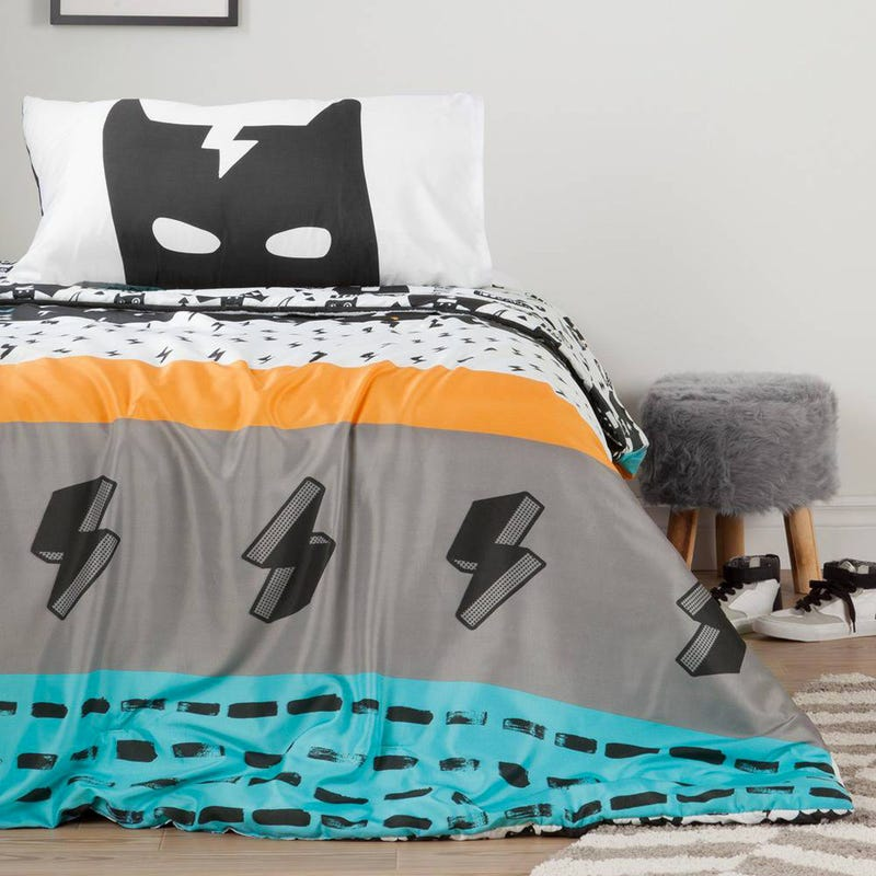Reversible Comforter And Pillowcase - Superhero