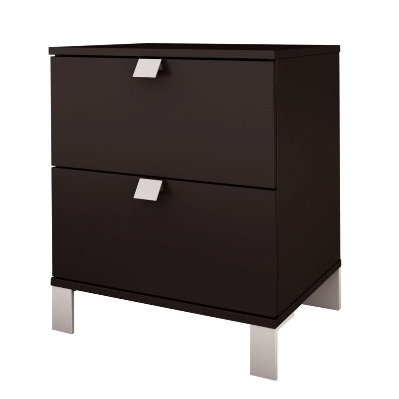 Spark 2-Drawer Nightstand - Chocolate