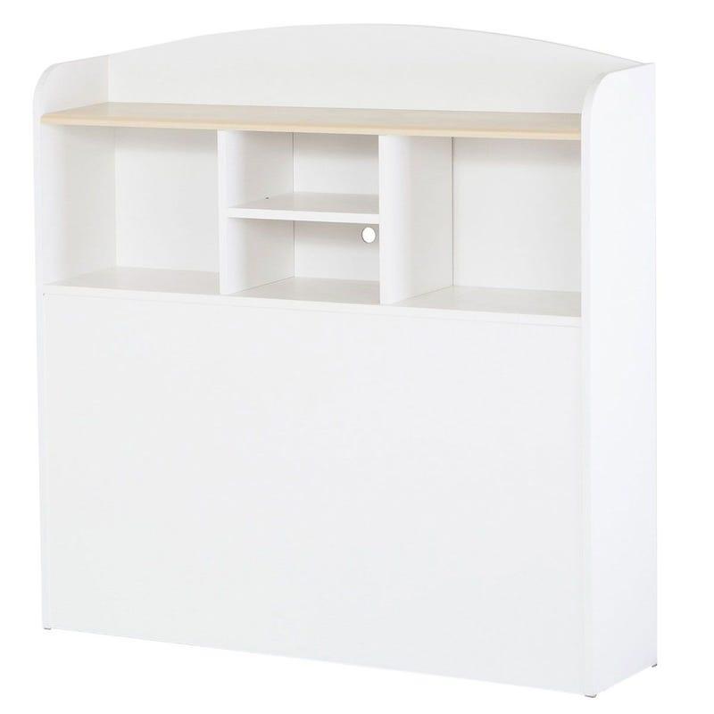 Summertime Twin Bookcase Headboard - Pure White