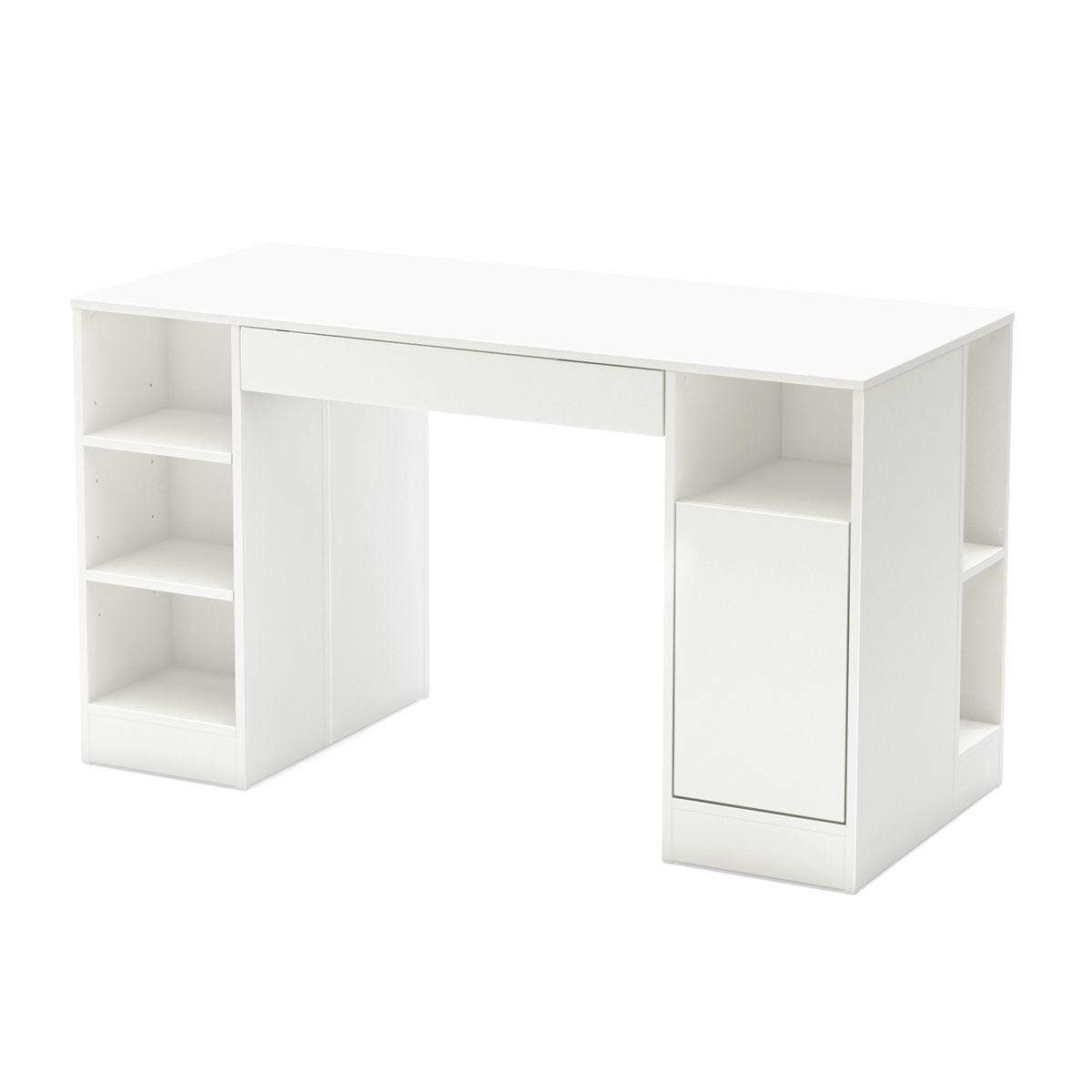 South Shore Furnitures Crea Craft Table Pure White Clement