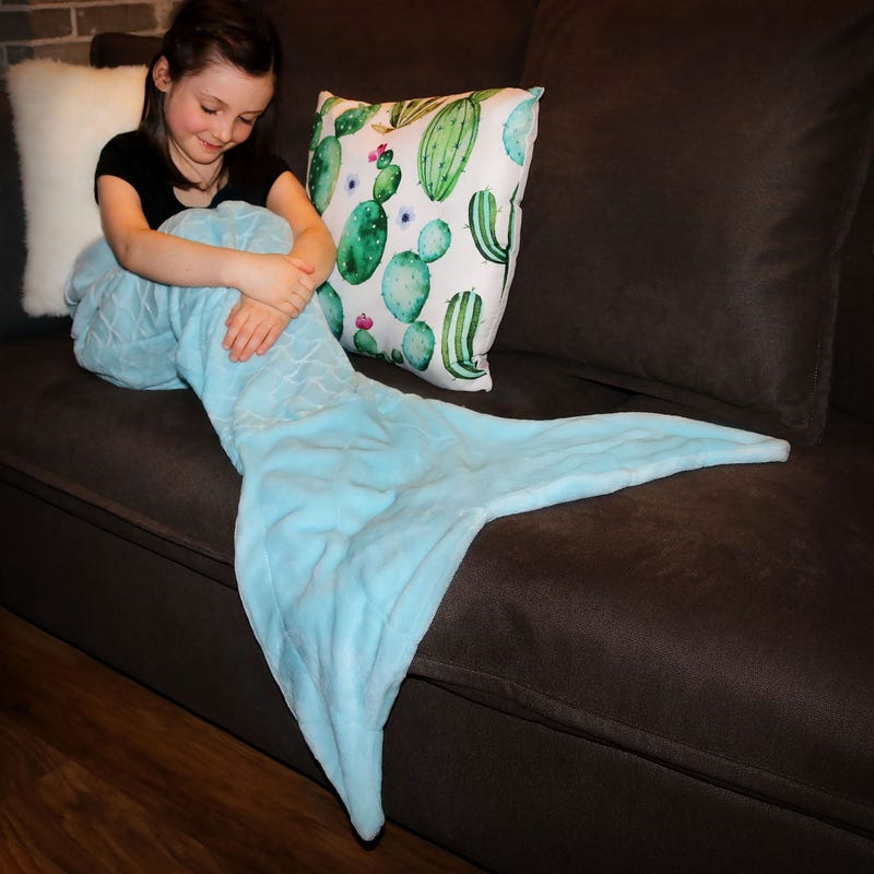 Blanket Mermaid - Blue