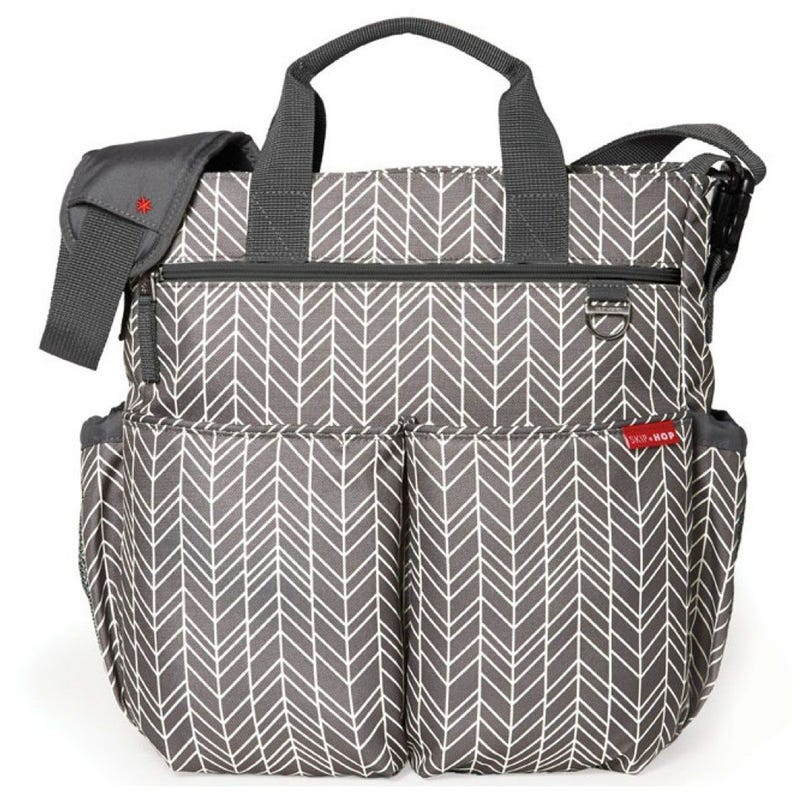 Duo Signature Diaper Bag - Gray Feather
