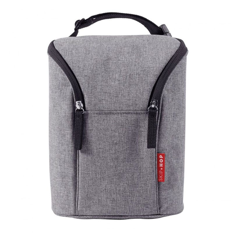 Grab and Go Double Bottle Bag - Heather Gray