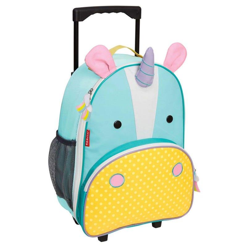 Zoo Kids Rolling Luggage - Unicorn