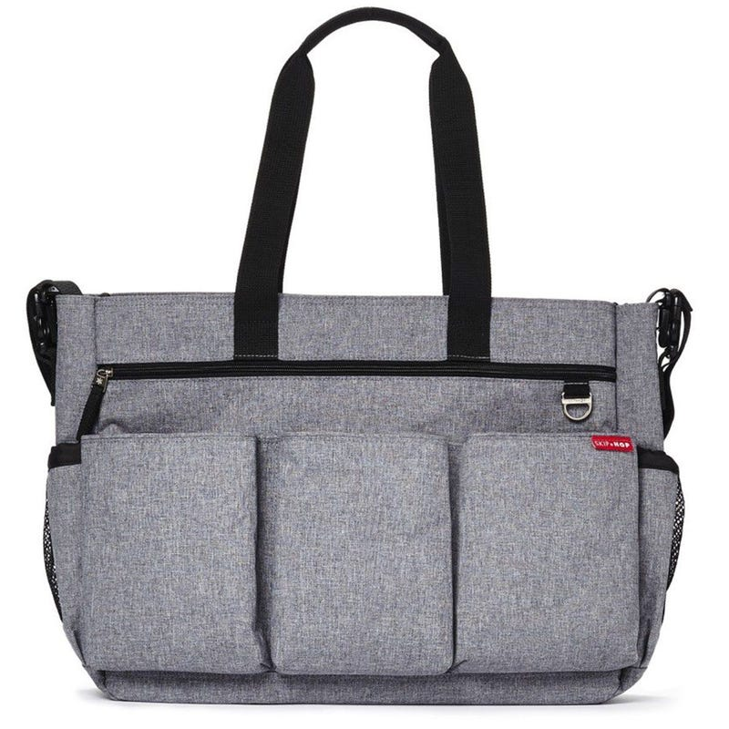 Duo Double Signature Diaper Bag - Heather Gray