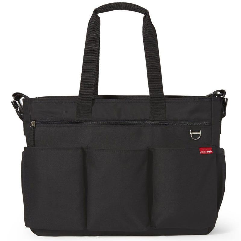 Duo Double Signature Diaper Bag - Black