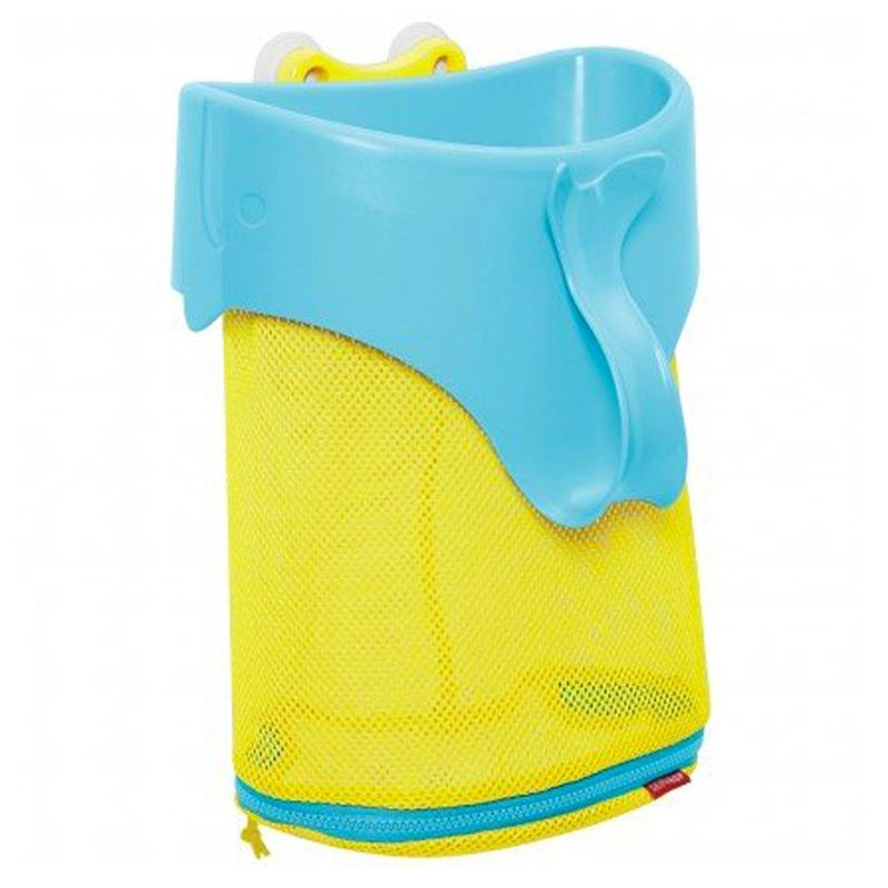 Moby Scoop and Splash Bath Toy Organizer - Blue/Yellow