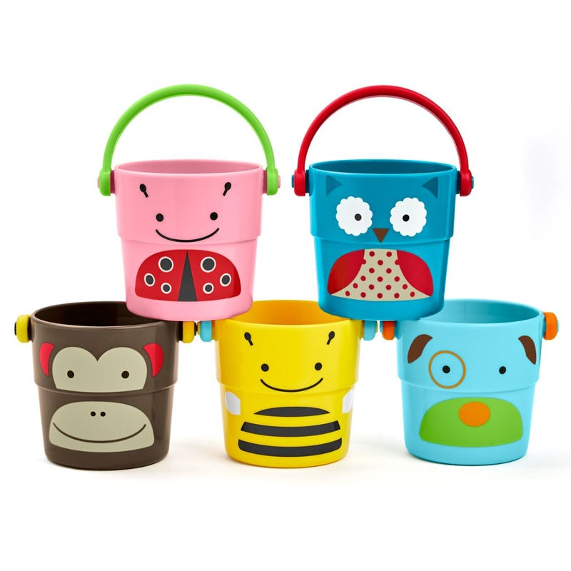 Zoo Stack And Pour Buckets Set of 5