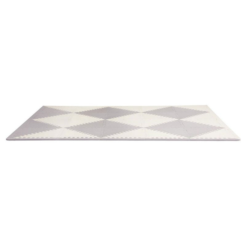Playspot Geo Foam Floor Tiles - Gray/Cream