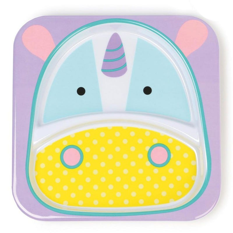 Zoo Little Kid Plate - Unicorn