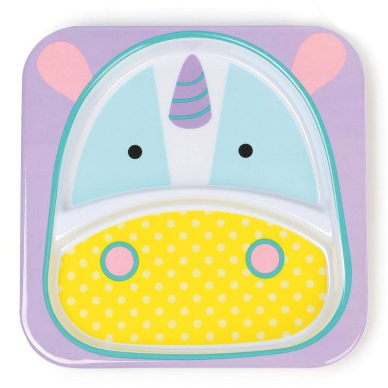 Zoo Little Kid Plate - Unicorn