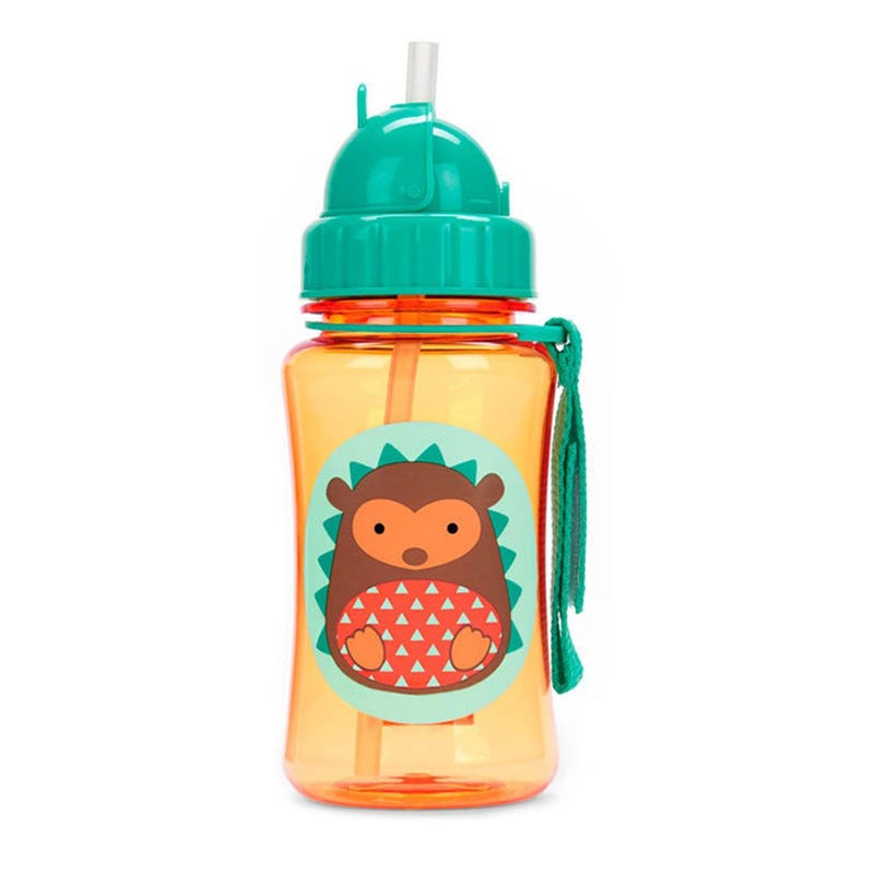 Zoo Straw Bottle - Hedgehog