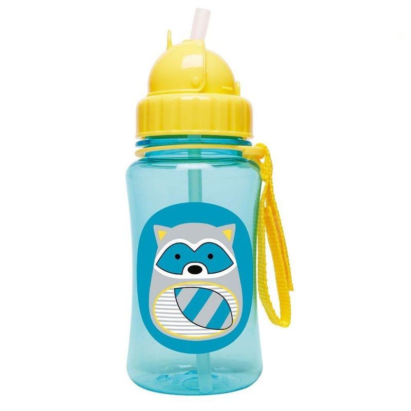 Zoo Straw Bottle - Raccoon