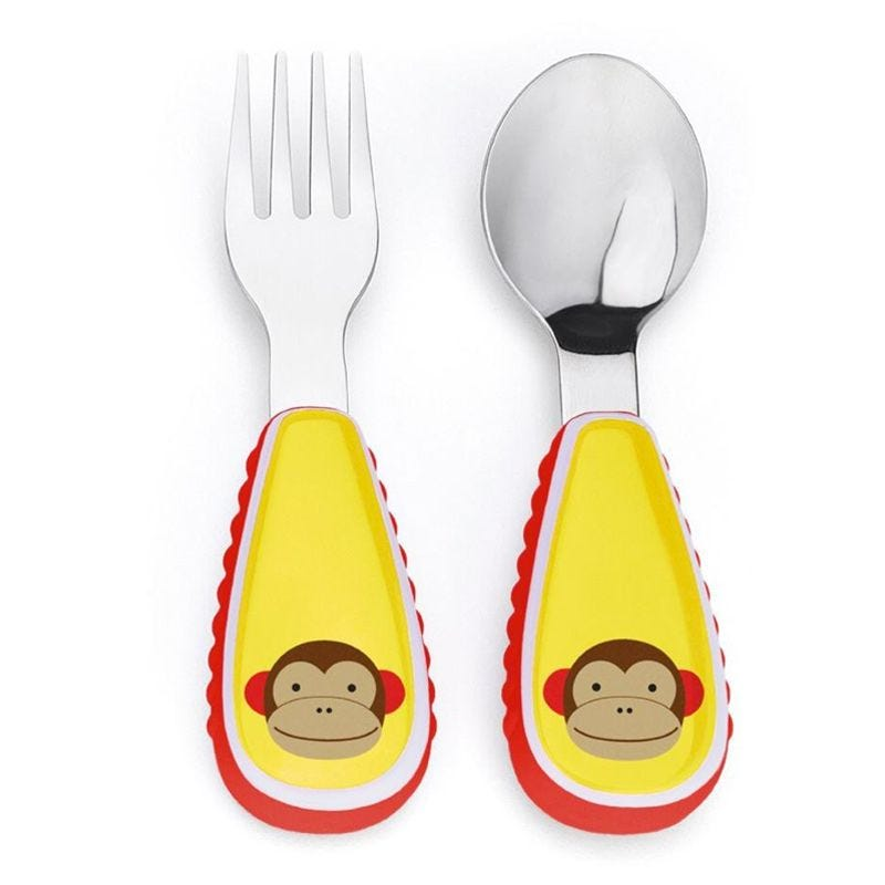 Zoostensils Fork and Spoon - Monkey