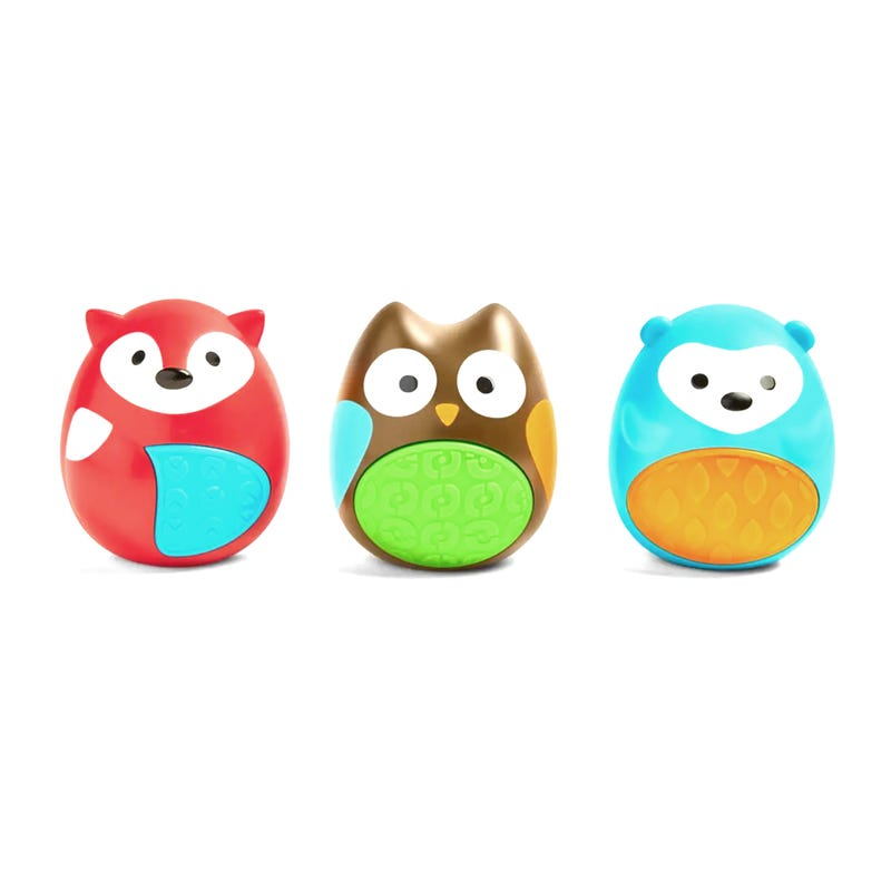 Explore and More Egg Rattles Baby Toy Trio - Multi Animals