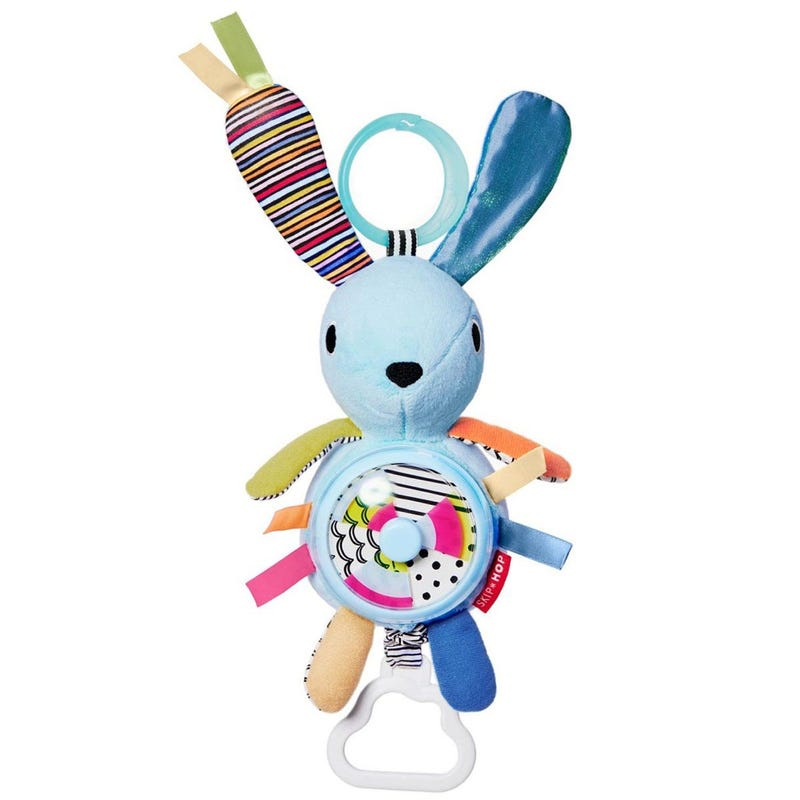 Vibrant Village Pull and Spin Activity Rabbit - Blue