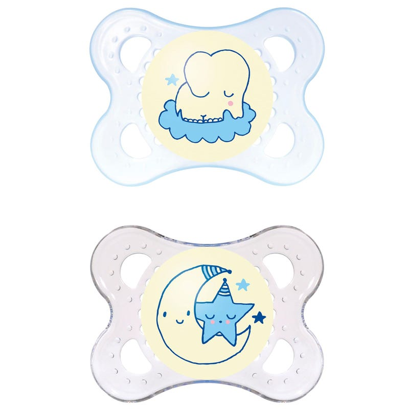 0-6months Pacifiers Set of 2 - Night Blue