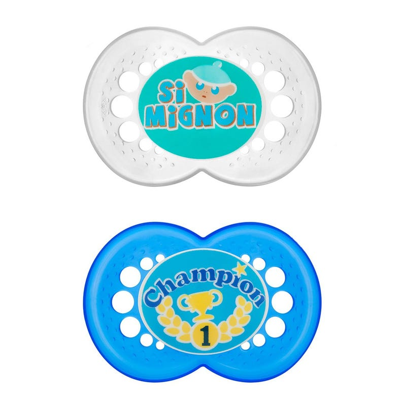 6months+ Pacifiers Set of 2 - Champion