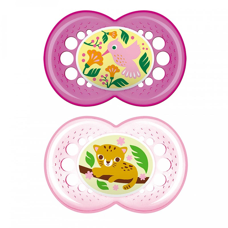6months+ Pacifiers Set of 2 - Crystal Pink