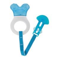 Anneau De Dentition + Attache - Bleu