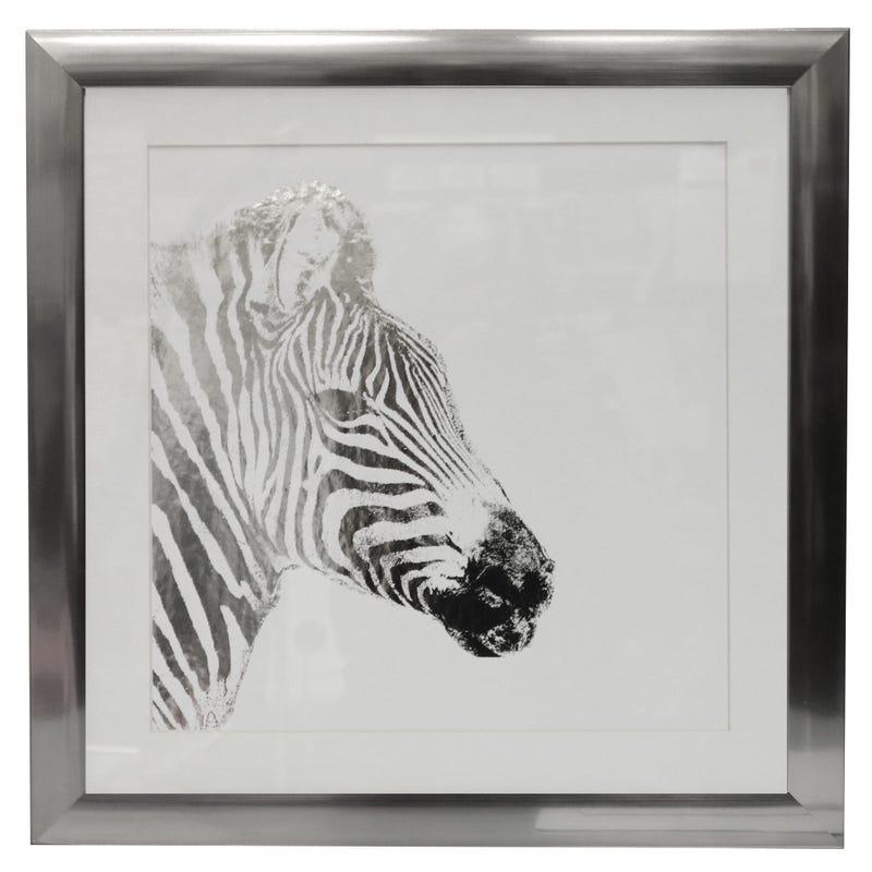 Cadre Zebre Argent 15x15