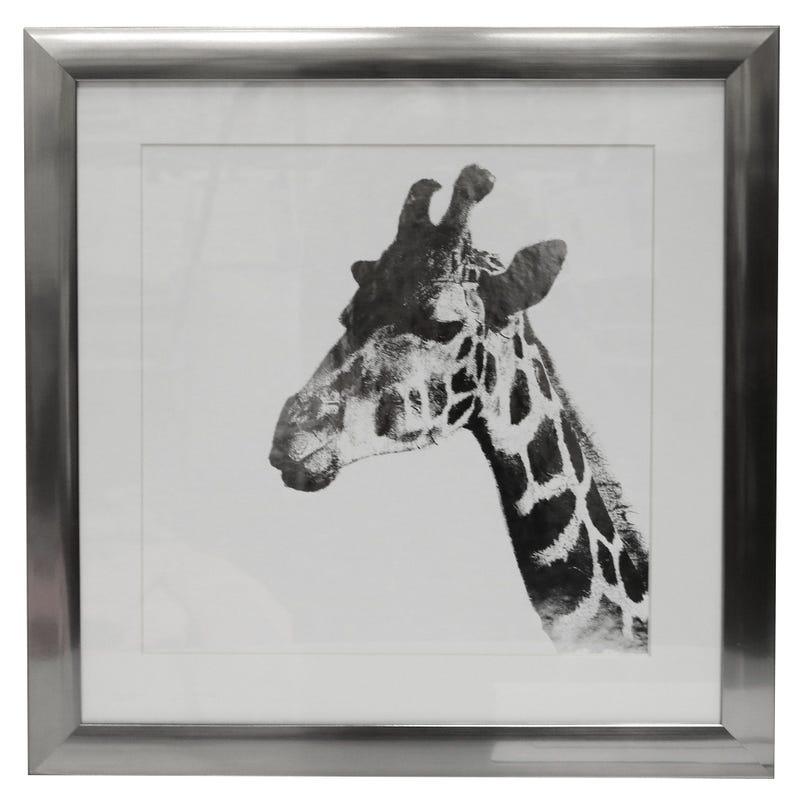 Cadre Girafe Argent 15x15