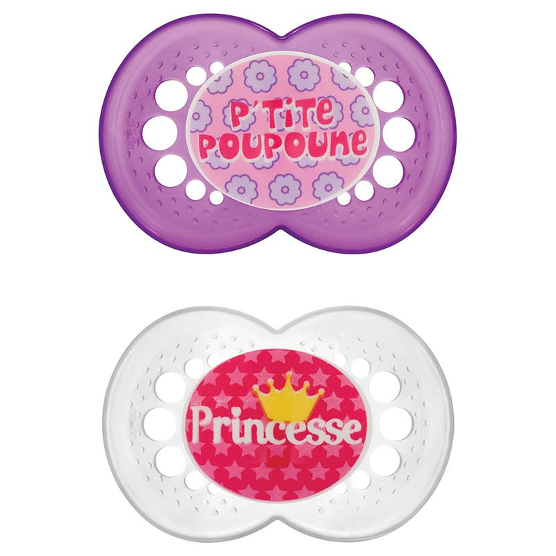 6months+ Pacifiers Set of 2 - Princess
