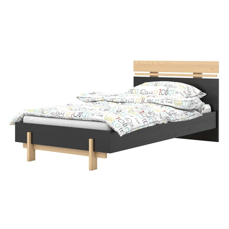 Coco Twin Bed - Black/Natural