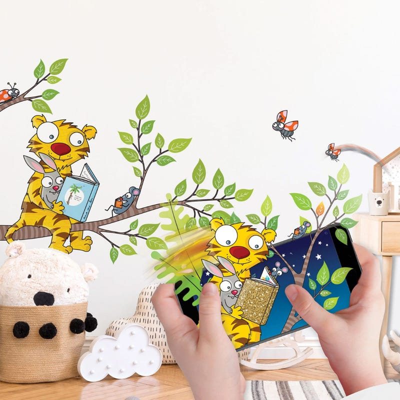 Interactive Room Decor - I'm discovering reading!